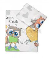 2-dielne bavlnené obliečky 135x100 cm, Cute Owls - sivá