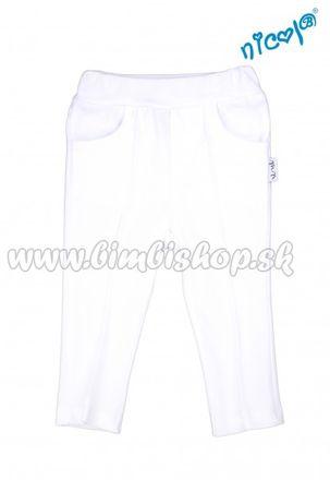 Detské bavlnené kalhoty Nicol, Sailor - biele, veľ. 128
