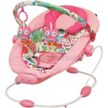 Detské lehátko Baby Mix dark pink ružová