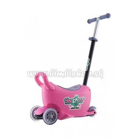 Detské odrážadlo s vodiacou tyčou Snoop 3v1 Milly Mally pink ružová
