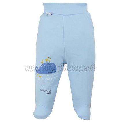 Dojčenské bavlnené polodupačky Koala Happy Baby modré modrá 74 (6-9m)