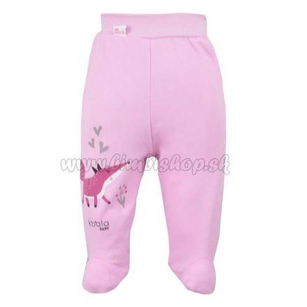 Dojčenské bavlnené polodupačky Koala Happy Baby ružové ružová 74 (6-9m)