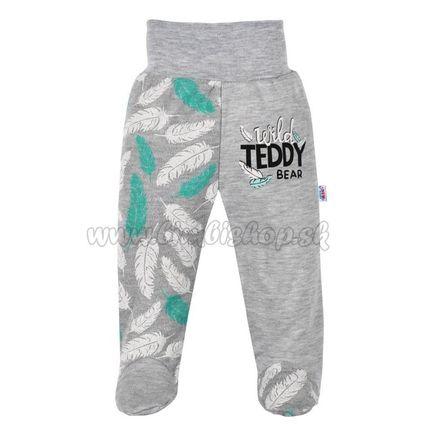 Dojčenské bavlnené polodupačky New Baby Wild Teddy sivá 74 (6-9m)