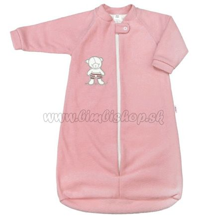Dojčenský froté spací vak New Baby medvedík ružový ružová 68 (4-6m)