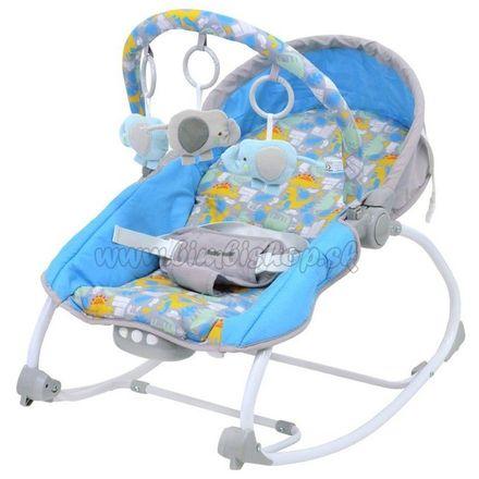 Lehátko pre miminko 2v1 Baby Mix dino grey blue sivá