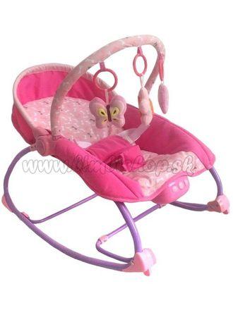 Lehátko pre miminko 2v1 Baby Mix ružové ružová