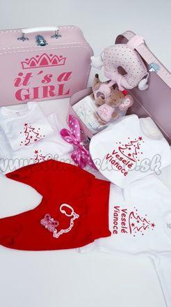 Skladom Plienková torta kufrík Girl Veselé Vianoce ružová