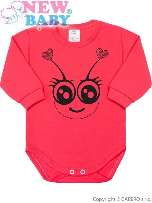 Dojčenské body s dlhým rukávom New Baby Zvieratko Lienka ružové ružová 68 (4 -6m bd8d902519a