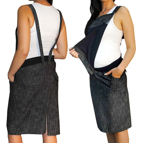 e3a68ab0b745 Tehotenské šaty   sukne s trakmi - čierny melírek XXL - Detské ...