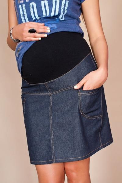 f6f072a03e63 Tehotenské sukne JEANS s vreckami - granátová - Detské oblečenie ...
