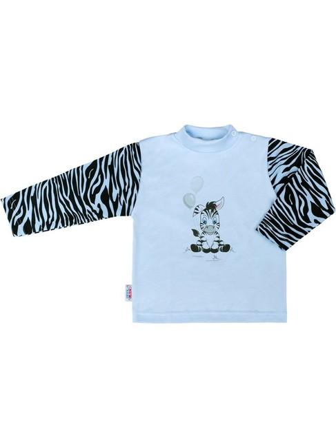 bfd0057bae53 Detské bavlnené pyžamo New Baby Zebra s balónikom modré modrá 74 (6 ...