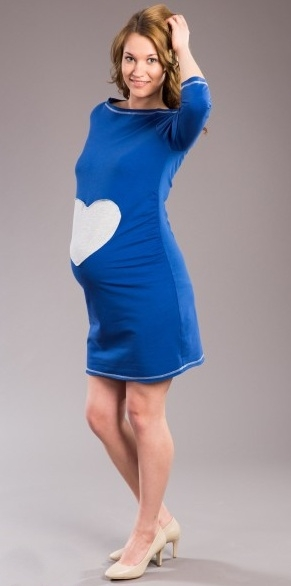 006d909ee Tehotenské šaty SRDCE - tm. modré XS/L - UNI - Detské oblečenie ...