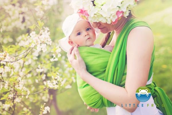 Little FROG Tkaný šatka na nosenie detí - BERYL - Detské oblečenie ... 00c54f4621
