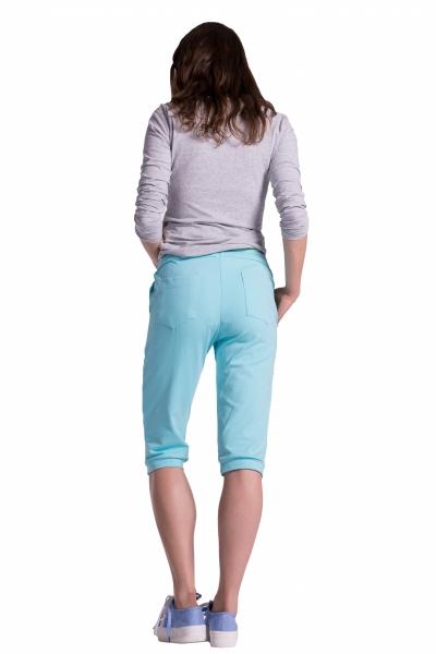 36e3d5449418 Moderné tehotenské 3 4 nohavice s vreckami - čierne