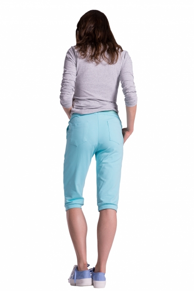 6067b3988c6b Moderné tehotenské 3 4 nohavice s vreckami - šedé