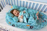 Baby Nellys Sada komplet - obojstranné hniezdočko, kokon Minky 60x90cm - zvieratka