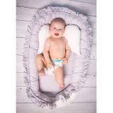 Luxusné hniezdočko pre bábätko Králiček Belisima sivo-ružové ružová