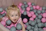 Bazen pre děti 90x40cm kostka  + 200 balónků - šedý bazén, balonky dle výběru
