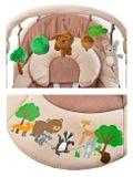 Detská hojdačka CARETERO FOREST brown hnedá