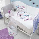 2-dielne posteľné obliečky Belisima Vážky 100/135 biela