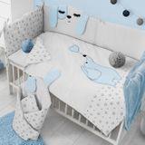 Skladom 2-dielne posteľné obliečky Belisima Lovely Puppy 100/135 modré modrá