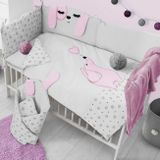 2-dielne posteľné obliečky Belisima Lovely Puppy 100/135 ružové ružová