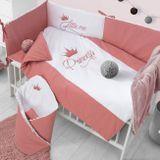 5-dielne posteľné obliečky Belisima Royal Baby 90/120 ružové ružová