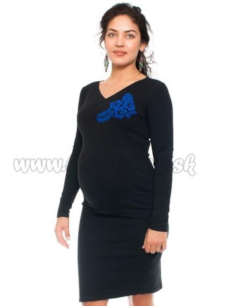 26efdcab0280 Bavlněné tehotenské a dojčiace šaty s potiskom Kvetin
