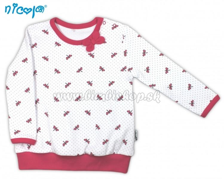 82c41f7f055e Bavlnené tričko Vážka - dlhý rukáv - biele
