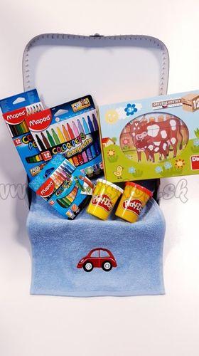 Darčekový kufrík pre deti Kocky Zvieratká Maxi dievča / chlapec