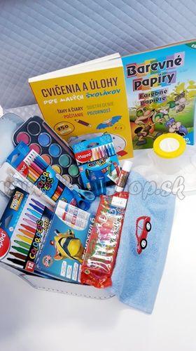 Darčekový kufrík pre predškoláka MAXI chlapec modrá