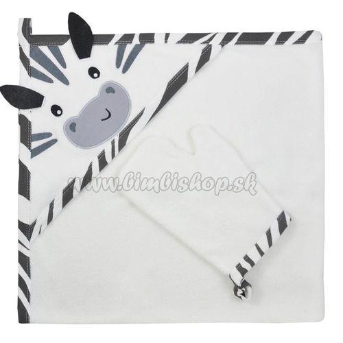 Detská osuška s žinkou Koala Happy Zebra white biela