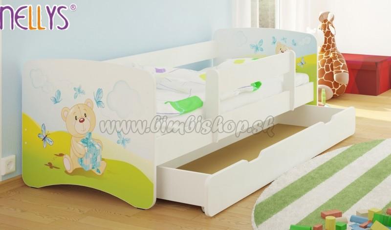 ede2d7153372b Detská posteľ Nellys ® s zásuvkou / ky - Míša darček / biela ...