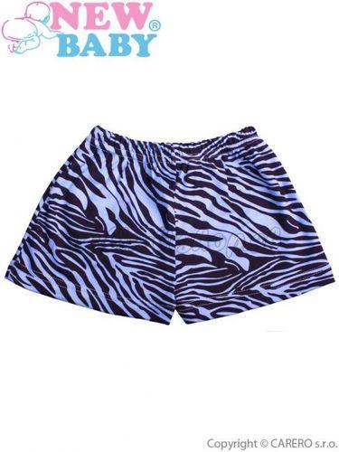 Detské kraťasy New Baby Zebra modré modrá 122 (6-7 rokov)
