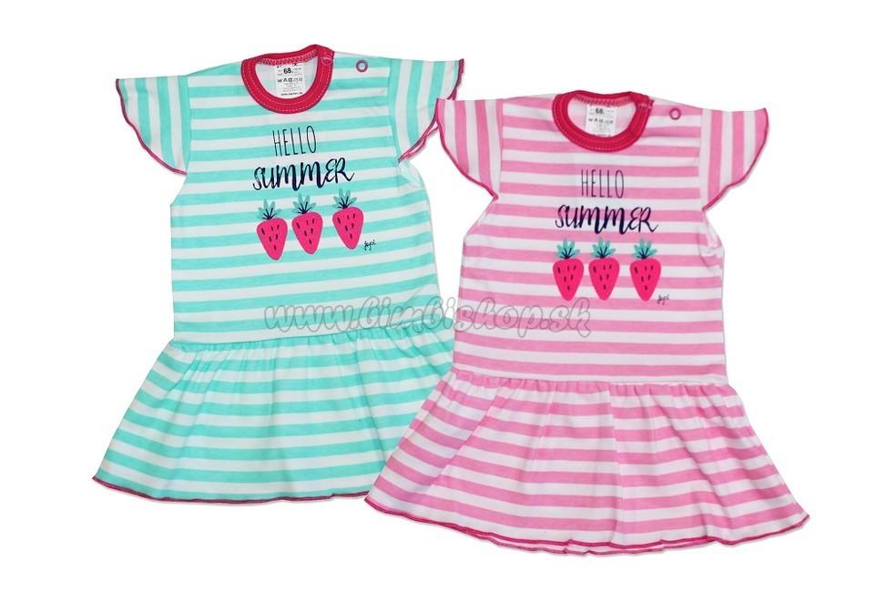 aab42f10e821 Detské šaty volán Hello Summer KR - 086 - zelená - Detské oblečenie ...