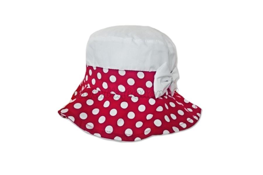 6707a9588 Dievčenský klobúk na zaviazanie Bodka mašla - 042 - tmavo modrá ...