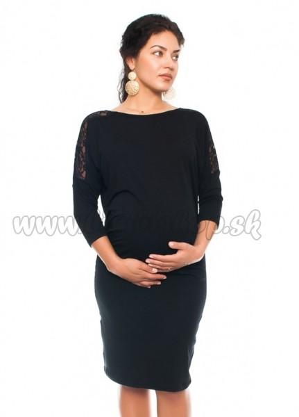 d7aab982e2f2 Elegantné tehotenské šaty s čipkou - čierne - Detské oblečenie ...