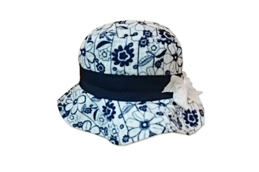 5a9ed0a52 Klobúk dievčenský Flowers - 046 - tmavo modrá - Detské oblečenie ...