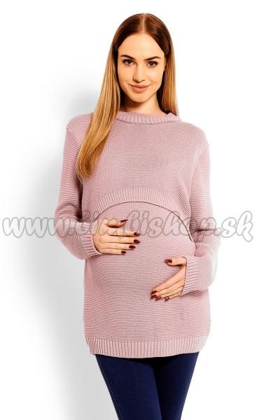 fb4957c0c2c0b Pletený tehotenský svetrík - pudrový, (dojčiace) - Detské oblečenie ...