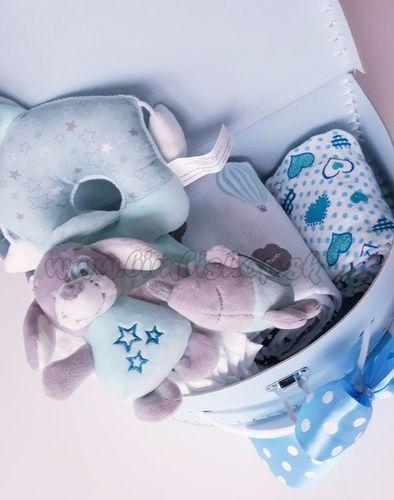 Skladom Plienková torta Lux kufrík modrá