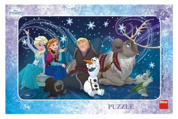 608c4803c Puzzle Snehové vločky doskové 15 dielikov Frozen / Ľadové kráľovstvo 30x19cm