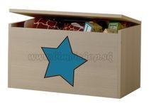 Box na hračky, truhlička Hviezda modrá ku kolekcii Žirafka