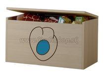 Box na hračky, truhlička Mačičikova tlapka modrá