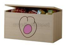 Box na hračky, truhlička Mačičikova tlapka růžová