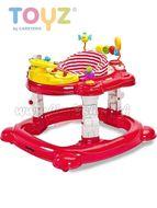 Detské chodítko Toyz HipHop 3v1 červené Červená