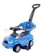 Detské hrajúce jazdítko-odrážadlo 3v1 Bayo Super Coupe blue modrá