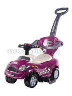 Detské hrajúce jazdítko-odrážadlo 3v1 Bayo Super Coupe purple fialová