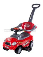 Detské hrajúce jazdítko-odrážadlo 3v1 Bayo Super Coupe red Červená