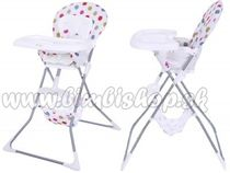 Jedálenská stolička ACE ECO TOYS - biela