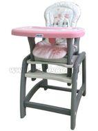 Jedálenská stolička Baby Mix 2v1 ružová